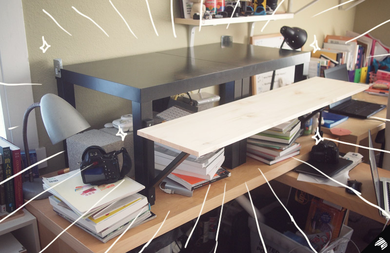 My Diy Standing Desk The 22 31 Ikea Hack Imaginary