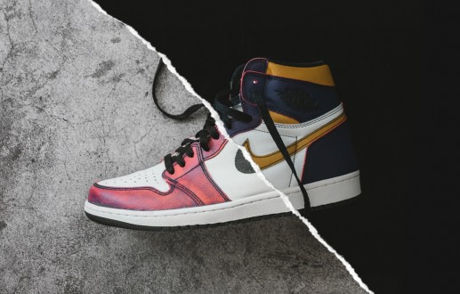 Nike SB x Air Jordan 1 'Lakers' Paint Removal